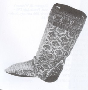 17th c Persian sock boots detail